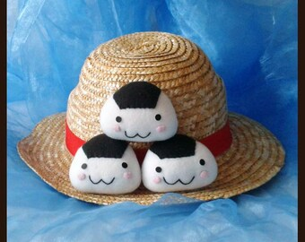 Cushion small onigiri cheerful mini cushion handmade Onigirikissen fleece