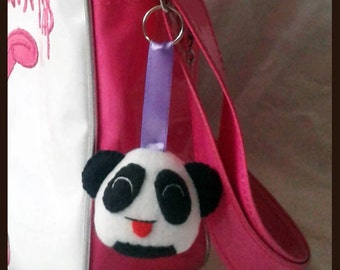 Keychain onigiri Panda fabric ornaments handmade pendant fabric bag charms