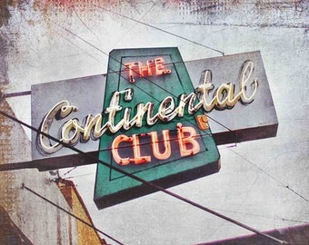 "Austin, Texas - ""Austin Continental Club"" on South Congress Avenue - (image is horizontal)"