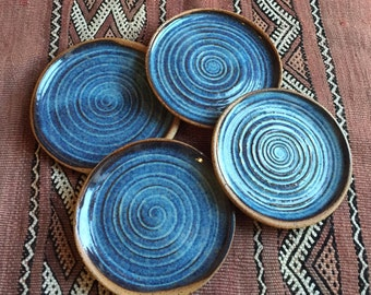 Set of rustic small plates