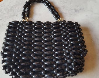 Black Bead Purse
