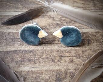 Dark eyed junco earrings jewelry bird birds backyard post birding birder