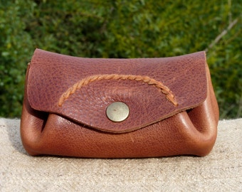 wallet leather - thin braid