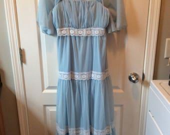 Vintage Sheer Empire Waist Dress