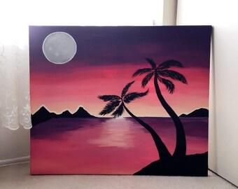 20 x 24 Moonrise Painting
