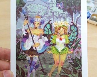 Odin Sphere - Gwendolyn and Mercedes Postcard