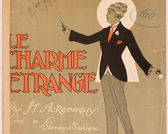 Original 1916 French sheet music - Le Charme Etrange