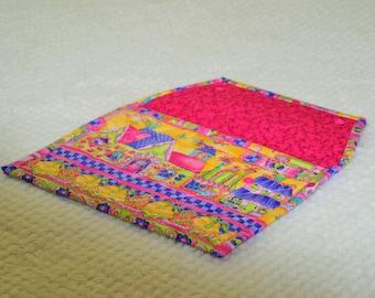 Nappy Clutch, Nappy Pouch, Small Nappy Bag, Nappy Bag, Pink Nappy Clutch, Pink Nappy Pouch, Pink Pouch, Patterned Nappy Clutch