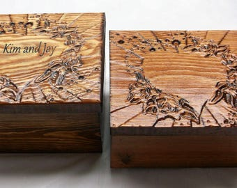Mothers Day Personalized Love Heart Wedding/Couples  Box