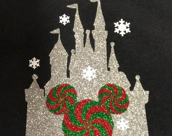 Disney Shirt, castle, christmas, candy, Princess, Magic Kingdom, Glitter, Trip, Vacation, Kids, Mens, Ladies, Womens,