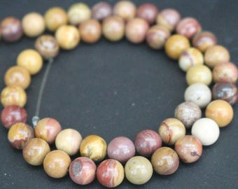 Sunset Mookaite Beads,6mm/8mm/10mm/12mm Smooth and Round Stone Beads,15 inches one starand