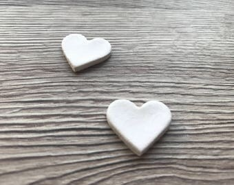 Wedding Table Scatters;Clay Hearts (2cm); Vintage Wedding, Heart Table Scatter, Table Confetti; Rustic Wedding;