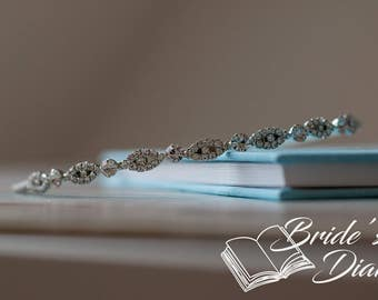 Wedding hair jewelry, rhinestones bridal wreath, bridal hairband with rhinestones