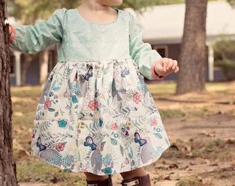 Maize Dress Baby PDF Pattern - Holiday Dress Pattern - Tunic PDF Pattern - Baby Girl Dress Pattern - Baby Dress Pattern - Baby Tunic Pattern