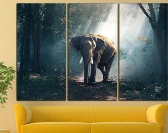 Elephant Canvas Elephant Wall Art Elephant print Elephant wall decor Elephant wall art Large Animal Print Decor
