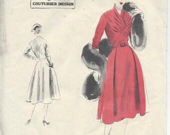 "1952 Vintage VOGUE Sewing Pattern DRESS B38"" (R530) Vogue 663"
