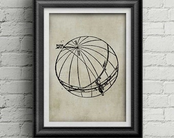Astronomy  ancient print 001 - astronomy print - antique astronomy poster - astronomy illustration - old astronomy print download