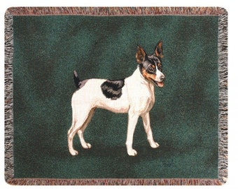 Personalized Rat Terrier Dog Throw Blanket