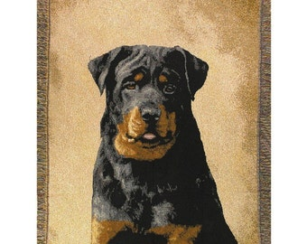 Personalized Rottweiler Dog Throw Blanket