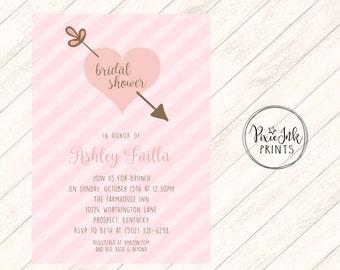 Items similar to Valentines Day Bridal Shower Invitation