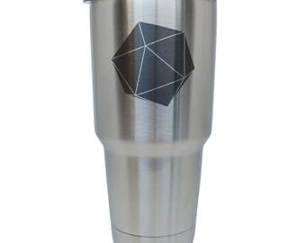 D20 Stainless Steel Tumbler, 30 Oz Insulated Tumbler, Laser Etched In Usa