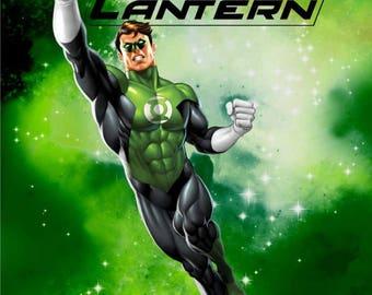 Green Lantern Anti-Pill Fleece Fabric Panel By Warner Bros /David Textiles/Free shipping available