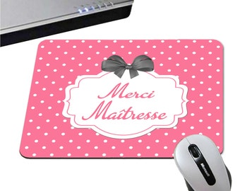 Thank you mistress mousepad - 3 colors black / pink / red - primary kindergarten