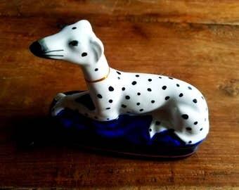 Fitz and Floyd Dalmatian Dog Trinket Box