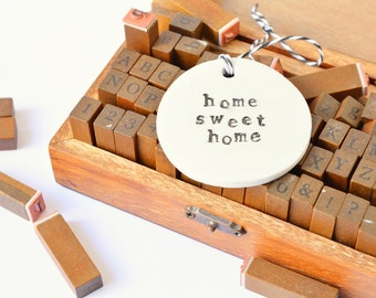 hanging words ornament: home sweet home