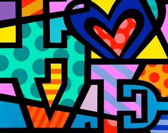 Love Pop art By Jozza  Canvas Art (30x30) Giclee,Prints