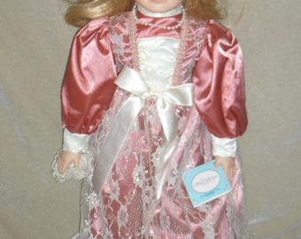 Porcelain Doll c. 1991 21inches BEAUTIFUL