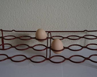 Egg rack egg holder store rack by Tomado Holland 60s Dutch vintage retro.