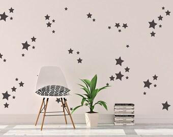 Star wall decals, star wall vinyl, Nursery decals, Nursery decor, wall vinyl, vinyl, star wall vinyl decals, star vinyl