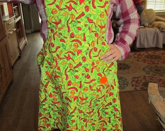 Chili Pepper Apron and pot holder