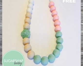 FLASH SALE Silicone Teething Necklace - Teething- CHEWLERY - Nursing Jewelry for Mom and Baby Chew Necklace Bpa Free