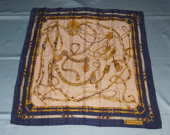 Authentic vintage Renato Balestra scarf ! All silk ! Made in Italy !