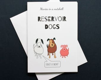 Funny Reservoir Dogs card, Reservoir Dogs card, Reservoir Dogs film card, Reservoir Dogs movie card