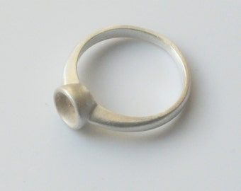 925 Sterling Silver Rubover Style Setting Solitaire Cast Ring Blank Unfinished to Make Your Own Ring Size L