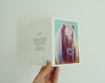 Orange Icelandic Horse Greeting Card
