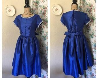 Vintage Party Prom Dress dark blue 90's