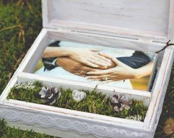 Wedding photo box. Wedding photo album. Customized photo box . Personalized wedding gift. Custom keepsake box. Wedding photo packaging.