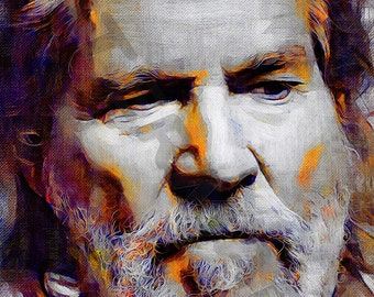 Jeff Bridges Art Print - The Dude Oil Painting Poster  LFF0082