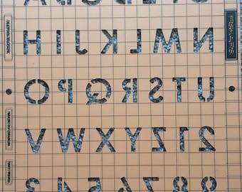 Stencil -Fiskars Shape Boss Embossing Stencil Set Alpha Block