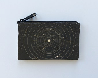 Constellations Little Zipper Pouch - Astronomy Stars Coin Purse - Gadget Case Padded