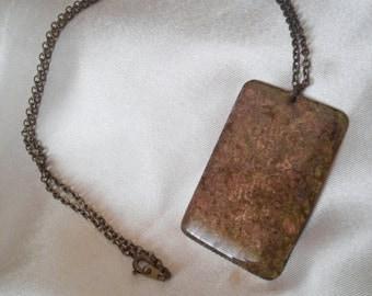 Brass Patina Pendant Necklace - #3