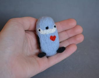 Needle Felted Pingüino Needle Felted Pingüino Natural Toys Children Felted Toy Gift Idea Needle felted animal Home decor