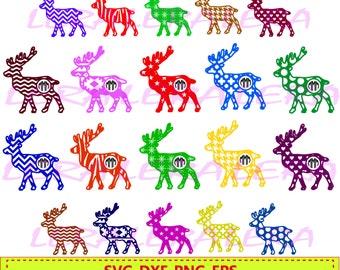 60 % OFF, Christmas Deer Monogram Frame, Deer Monogram SVG, Christmas Deer SVG Files, Deer svg Cut File, png, eps, dxf, Deer Monogram Frames