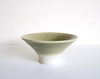 Ceramic Rice Bowl Chawan - Khaki green