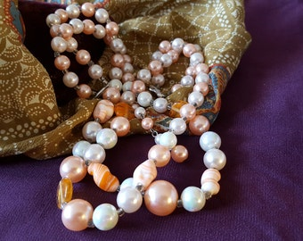 Peachy Costume Jewelry Necklace