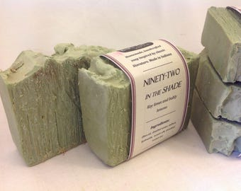 Ninety-Two in the Shade Key Lime Exfoliating Book Soap- Handmade Soap, Natural Soap, Cold Process Soap, Exfoliating Soap, Handcrafted Soap